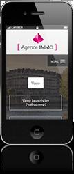Site version mobile de notre partenaire FNAIM, réalisé par La Boite Immo