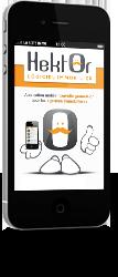 Affichage du logiciel immoiblier Hektor sur mobile