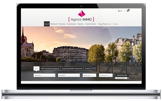 Site version ordinateur de notre partenaire FNAIM, réalisé par La Boite Immo
