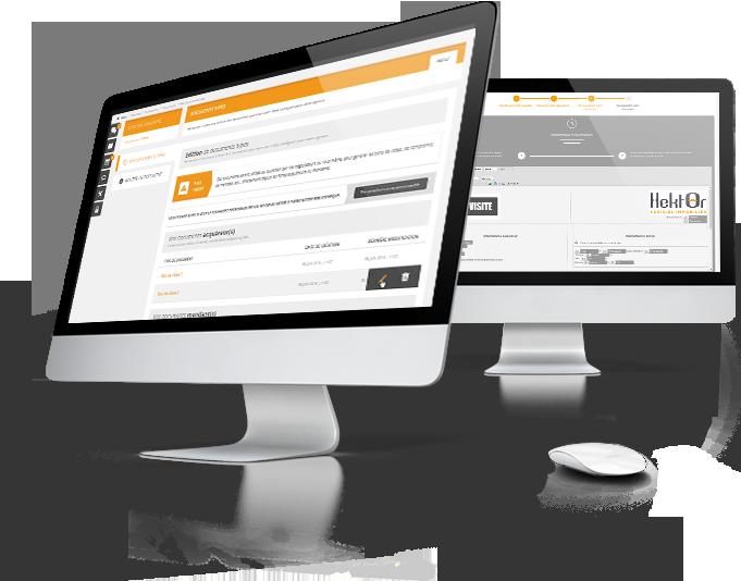 Interface édition de documents sur le logiciel immobilier Hektor