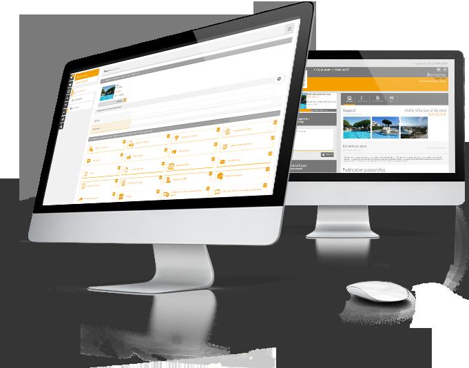 Interface espace propriétaire du logiciel immobilier Hektor