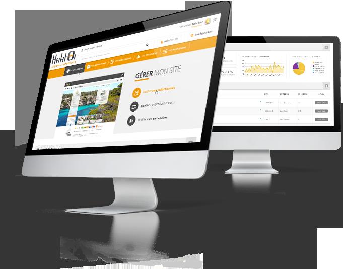 Interface de gestion de votre site immobilier sur le logiciel Hektor