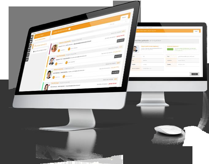 Interface de gestion des négociateurs immobiliers du logiciel Hektor