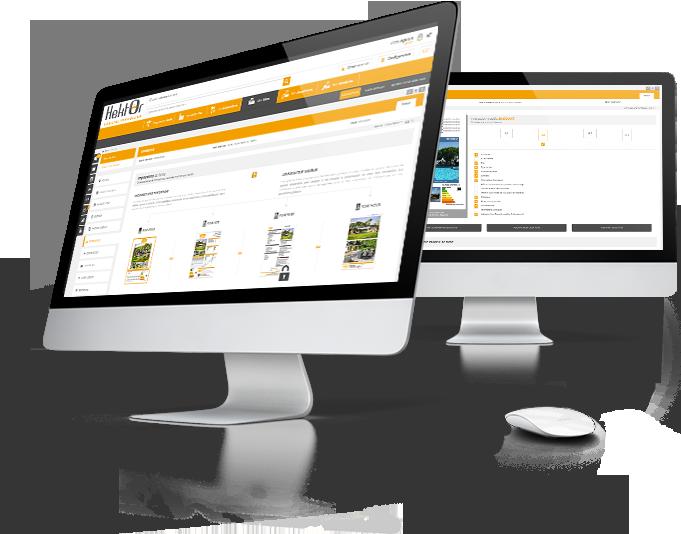 Interface de gestion fiches d'impressions du logiciel immobilier Hektor