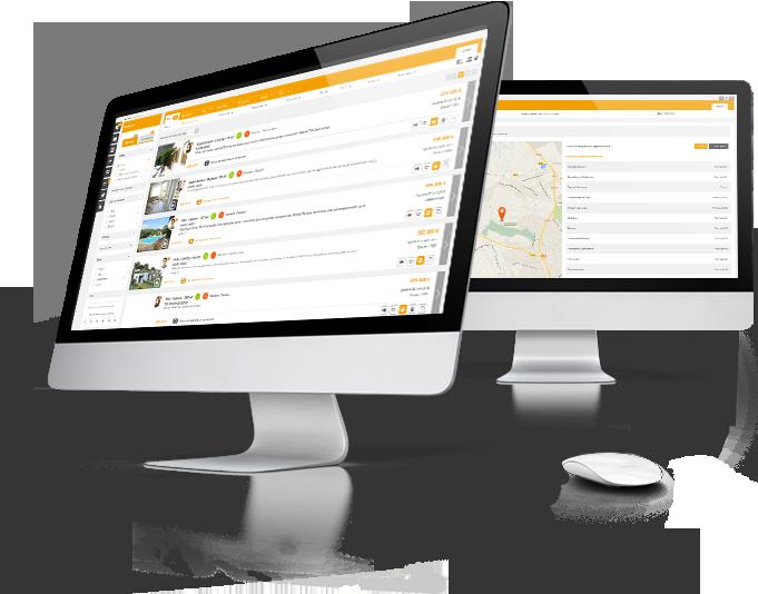 Interface logiciel immobilier Hektor pour location saisonnière